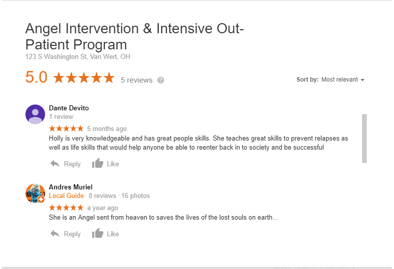 Google Review-Angel Intervention & Iop Services-holly Conklin
