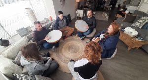 Holly Conklin-wellness center-van wert-Ohio-Drum circle